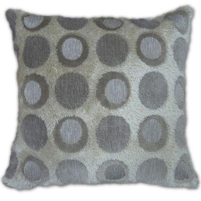 Hoops Velvet Square Throw Pillow in Multi