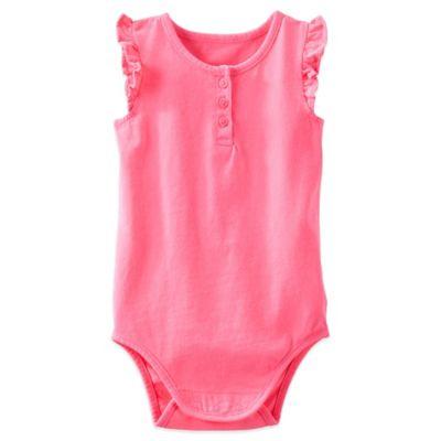 OshKosh B'gosh® Size 6M Flutter Sleeve Bodysuit in Pink