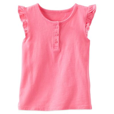 Size 3T Flutter Sleeve Top in Pink