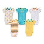 Gerber ONESIES® Brand Newborn 5-Pack Cutest Baby/Print Short Sleeve Bodysuits in Yellow/Blue