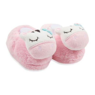 Gerber® Newborn Cow Velboa Baby Booties in Pink/White