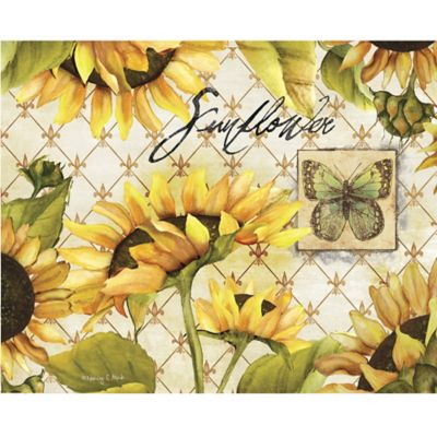 CounterArt Sunflowers in Bloom Glass Cutting and Serving Board