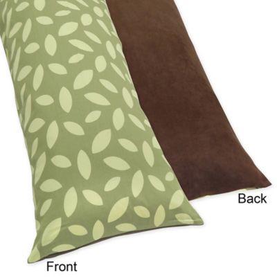 Sweet Jojo Designs Jungle Time Maternity Body Pillow Case in Green/Brown
