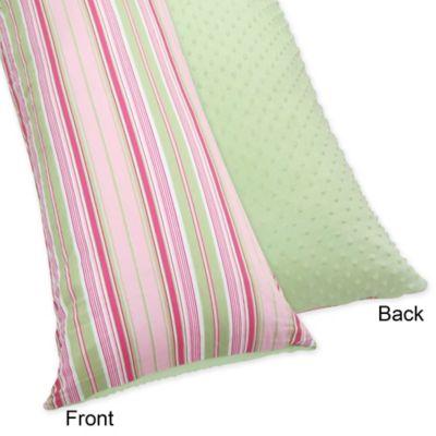 Sweet Jojo Designs Jungle Friends Maternity Body Pillow Case in Pink/Green