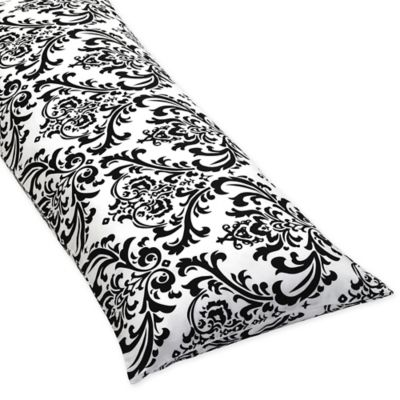Sweet Jojo Designs Isabella Maternity Body Pillow Case in Black/White