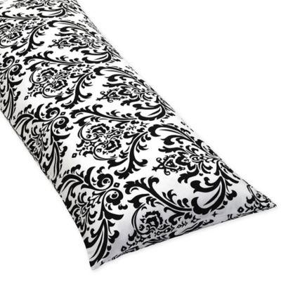 Sweet Jojo Designs Isabella Maternity Body Pillow Case in Black/White