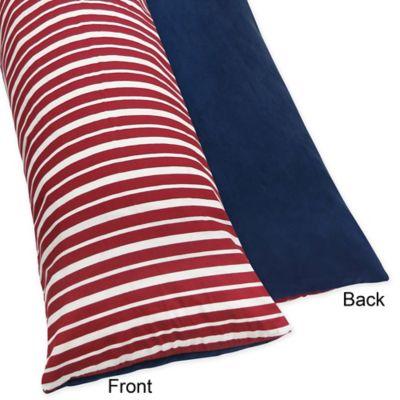 Sweet Jojo Designs Aviator Maternity Body Pillow Case in Red/Blue
