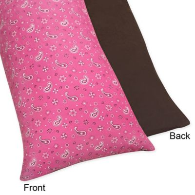Sweet Jojo Designs Cowgirl Maternity Body Pillow Case in Bandana Print
