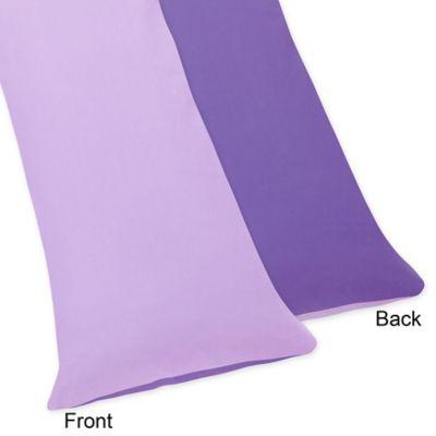 Sweet Jojo Designs Danielle's Daisies Maternity Body Pillow Case in Purple