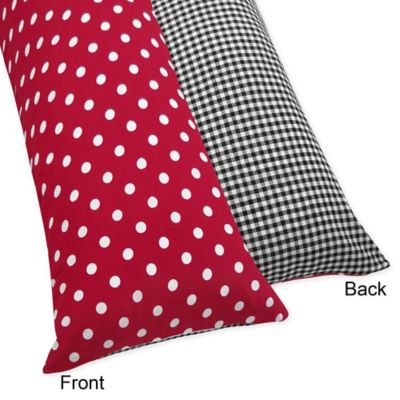 Sweet Jojo Designs Ladybug Maternity Body Pillow Case in Polka Dot