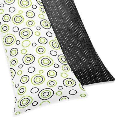 Sweet Jojo Designs Spirodot Maternity Body Pillow Case in Lime/Black