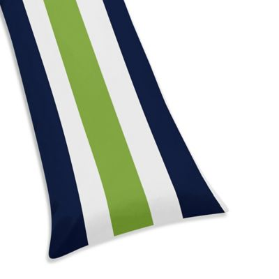 Sweet Jojo Designs Stripe Maternity Body Pillow Case in Navy/Lime