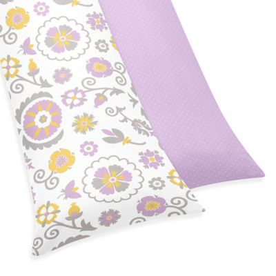 Sweet Jojo Designs Suzanna Maternity Body Pillow Case in Lavender/White