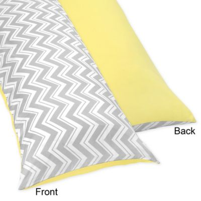 Sweet Jojo Designs Zig Zag Maternity Body Pillow Case in Yellow/Grey