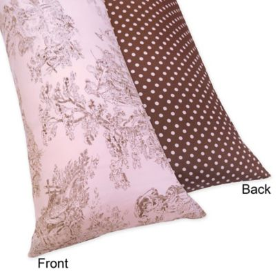 Sweet Jojo Designs French Toile Maternity Body Pillow Case in Pink/Brown