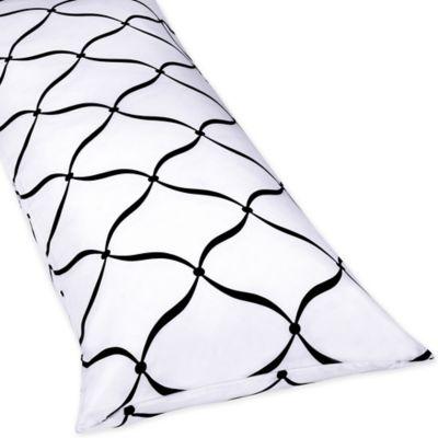 Sweet Jojo Designs Princess Maternity Body Pillow Case in Black/White