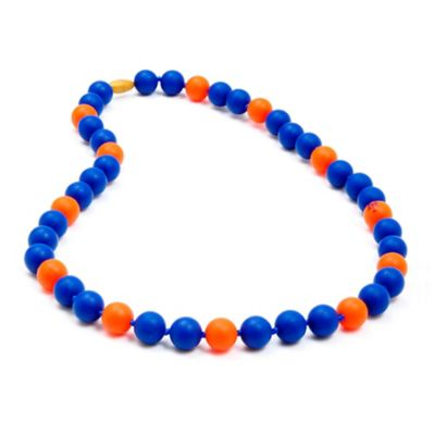 Blue Orange Teething Necklace