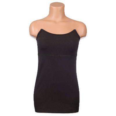 Undercover Mama™ Size Extra Large Strapless Slim Nursing Tank in Black