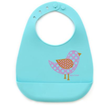 Bella Tunno Little Miss Chick Silicone Wonder Bib in Aqua/Pink
