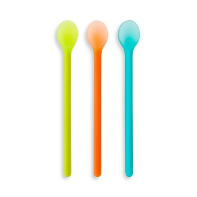 Boon® SERVE 3-Pack Silicone Weaning Spoons in Green/Orange/Blue