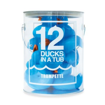 Trumpette 12-Pack Ducks in a Tub in Blue
