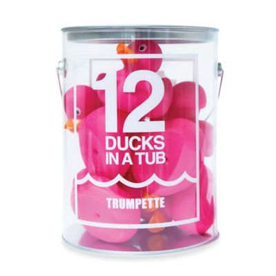 Trumpette 12-Pack Ducks in a Tub in Fuchsia