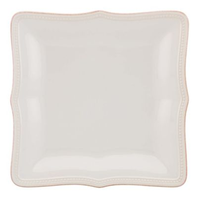 Lenox® French Perle Bead Square Dinner Plate in White