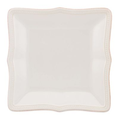Lenox® French Perle Bead Square Accent Plate in White