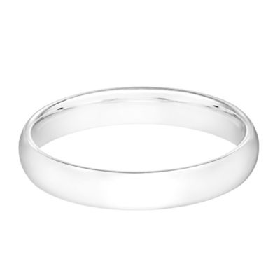 10K White Gold Size 7.5 Men's Standard Comfort Fit 4mm Wedding Band