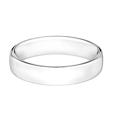 14K White Gold Size 9.5 Men's Comfort Fit 5.5mm Wedding Band
