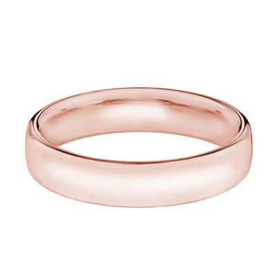 14K Rose Gold Size 13 Men's Comfort Fit 5.5mm Wedding Band