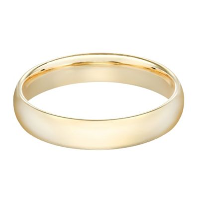 10K Yellow Gold Size 7.5 Men's Standard Comfort Fit 5mm Wedding Band
