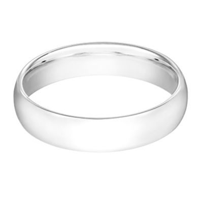 10K White Gold Size 7.5 Men's Standard Comfort Fit 6mm Wedding Band