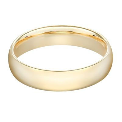 10K Yellow Gold Size 10.5 Men's Standard Comfort Fit 6mm Wedding Band
