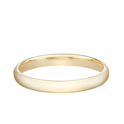 14K Yellow Gold Size 7 Ladies' Standard Comfort Fit 2.5mm Wedding Band