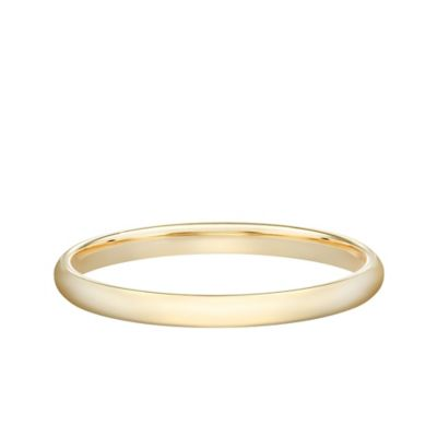 14K Yellow Gold Size 5 Ladies' Standard Comfort Fit 2mm Wedding Band