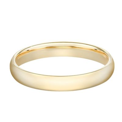 10K Yellow Gold Size 7 Ladies' Standard Comfort Fit 3mm Wedding Band
