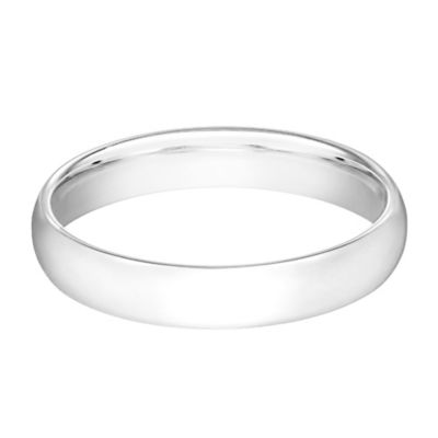 10K White Gold Size 8.5 Ladies' Standard Comfort Fit 4mm Wedding Band