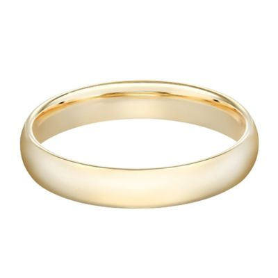 10K Yellow Gold Size 8.5 Ladies' Standard Comfort Fit 4mm Wedding Band