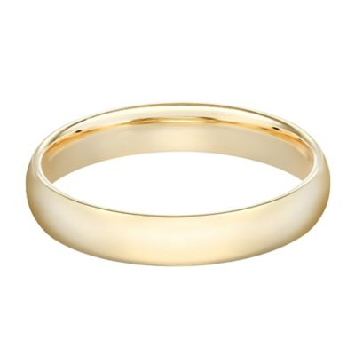10K Yellow Gold Size 5 Ladies' Traditional Oval 4mm Wedding Band