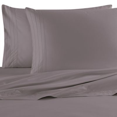 Barbara Barry Dream Satin Tux King Pillowcases in Mercury (Set of 2)