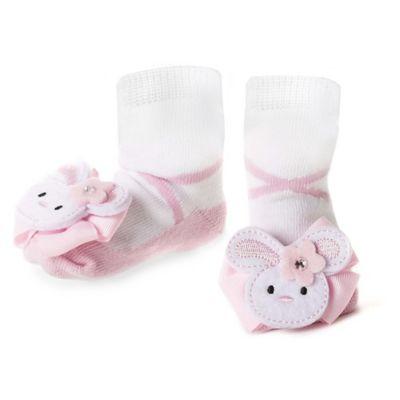 Mud Pie® Bunny Socks in Pink