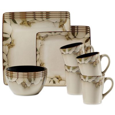 Yellow Floral Dinnerware