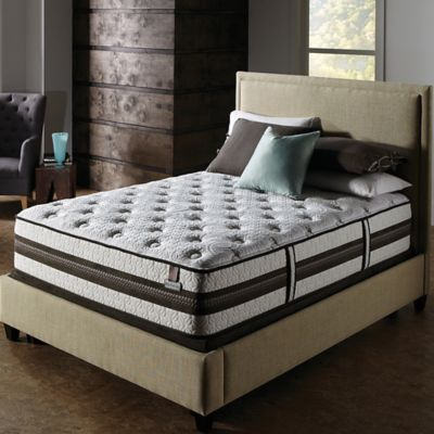 Serta® iSeries® Profiles™ Honoree Cushion Firm Low Profile Cal King Mattress Set