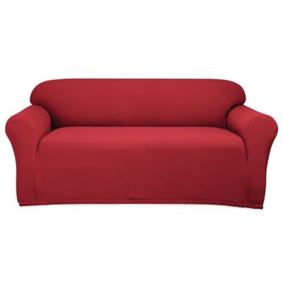 Sure Fit® Stretch Honeycomb Loveseat Slipcover in Ruby