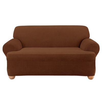 Sure Fit® Stretch Corduroy Loveseat Slipcover in Garnet