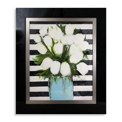 White Tulips Wall Art