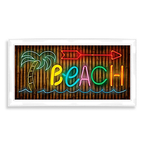 Led palm tree beach sign wall d cor bed bath beyond for Beyond the wall mural design