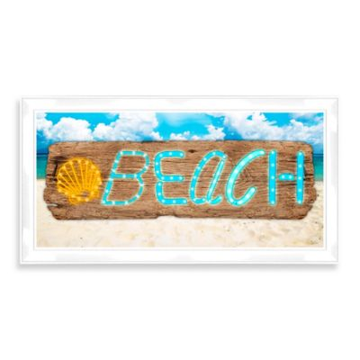 "LED ""Beach"" Sign Wall Décor"