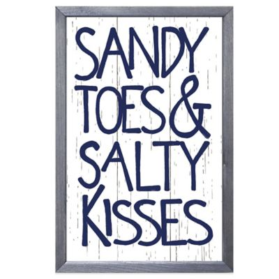 """Sandy Toes & Salty Kisses"" Wall Art"